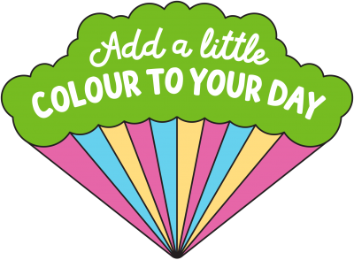 "Logo for headspace day 2018, ""Add a little colour to your day"""